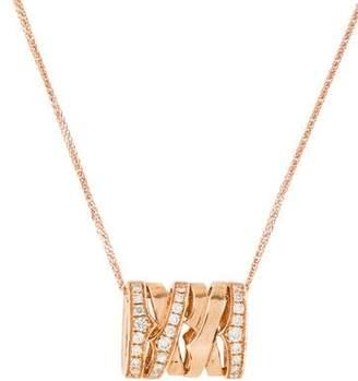 18K Diamond Woven Pendant Necklace
