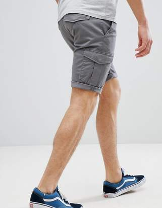 Tom Tailor Slim Fit Cargo Shorts In Grey