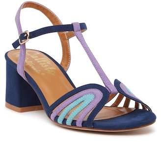 Callisto Carma T-Strap Block Heel Sandal