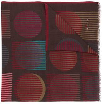 Kiton printed cashmere scarf