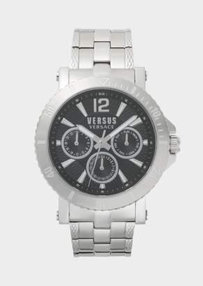 Versus Black Dial Silver Steenberg Watch
