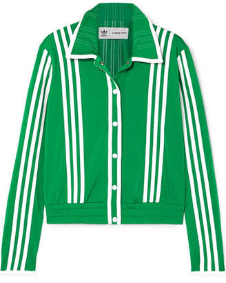 adidas Ji Won Choi Striped Satin-jersey Track Jacket - Green