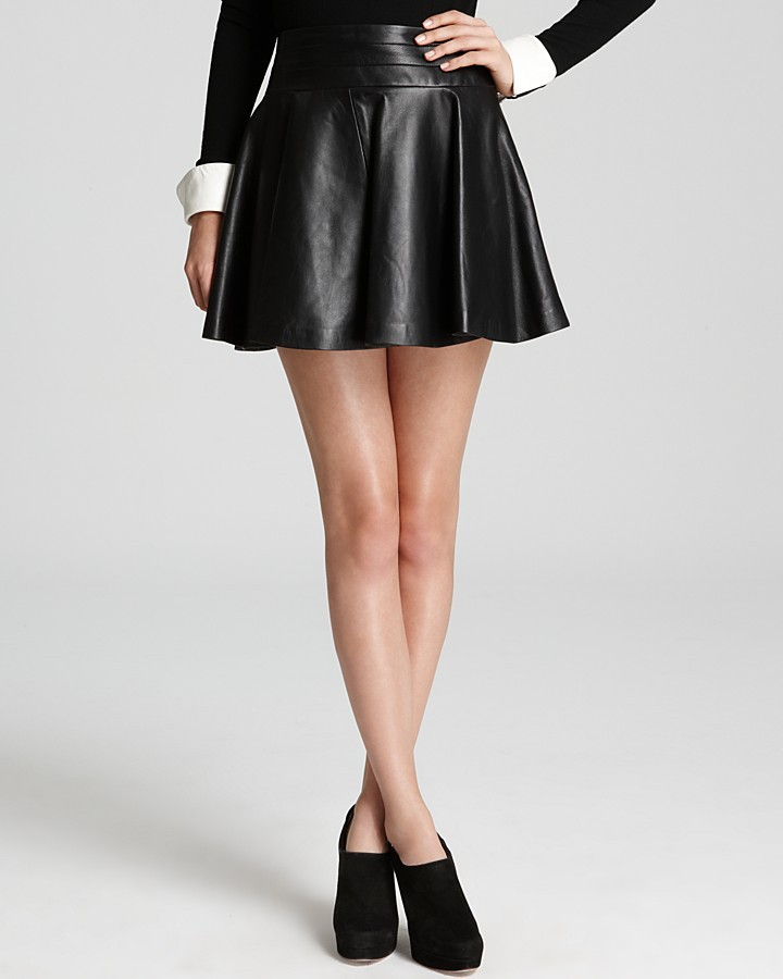 Milly Leather Skirt - Delphine Swirl