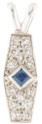 14K Diamond & Sapphire Pendant