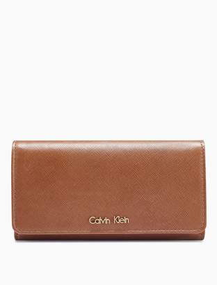 Calvin Klein saffiano leather flap envelope wallet