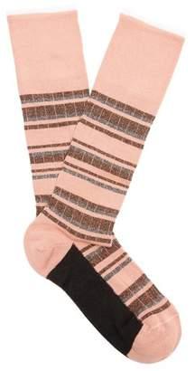 Marni Striped Cotton Blend Socks - Womens - Pink
