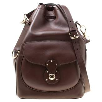 Ralph Lauren Ricky Brown Leather Handbags