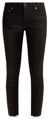 Khaite - Alissa Mid Rise Slim Leg Boyfriend Jeans - Womens - Black