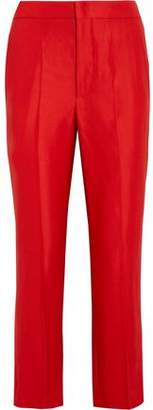 Isabel Marant Satin-Crepe Staight-Leg Pants