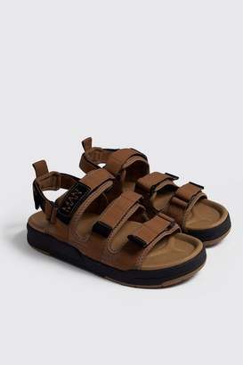 boohoo Velcro Strap Sports Sandal