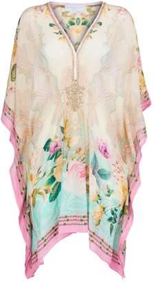 Elizabeth Hurley Embellished Floral Kaftan