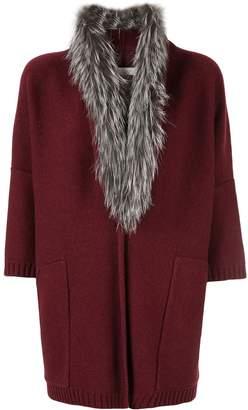 Fabiana Filippi fur trim cardi-coat