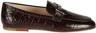 Tod's Crocodile Skinned Moccasin Loafers