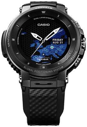 Casio Pro Trek Unisex Black Smart Watch-Wsd-F30-Bkaau