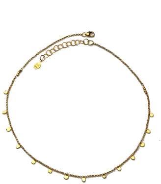 Yvonne Henderson Jewellery - Tiny Dot Gold Disc Choker Necklace