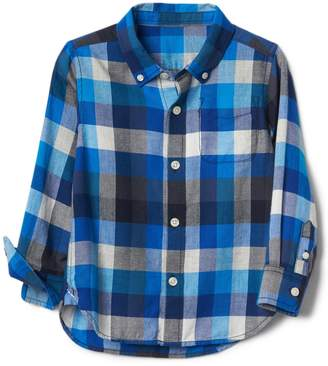 Gap Crazy plaid button-down shirt