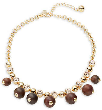 Kate SpadeKate Spade New York Second Nature Bead and Crystal Statement Necklace