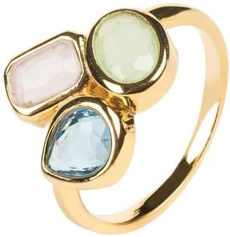 Latelita London - Venice Multi Gemstone Ring Gold