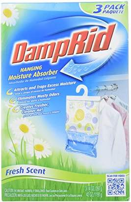 DampRid FG83K Hanging Moisture Absorber Fresh Scent (3 Boxes of 3 bags