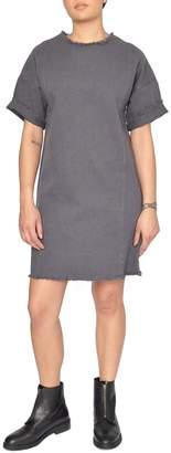 NATIVE YOUTH Grey Canvas Dress