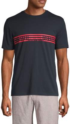 Perry Ellis Graphic Cotton Blend Tee