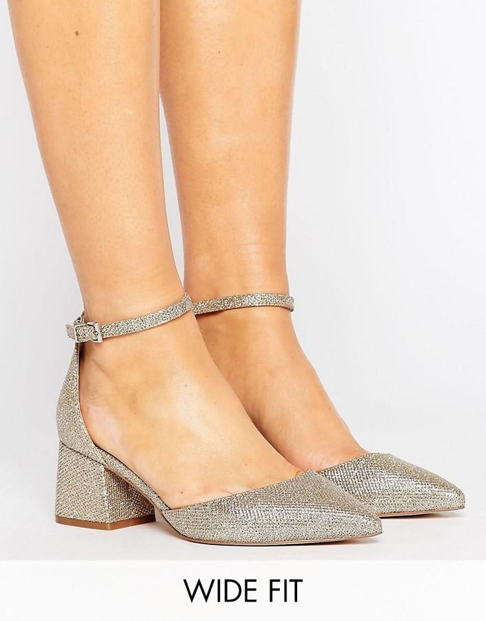 AsosASOS STARLING Wide Fit Bridal Pointed Heels
