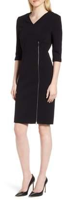 BOSS Deazema Twill Jersey Dress