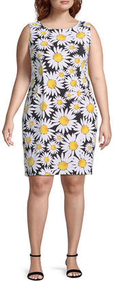 Ronni Nicole Sleeveless Floral Shift Dress - Plus