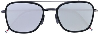 Thom Browne Eyewear Black Iron & Dark Grey Sunglasses