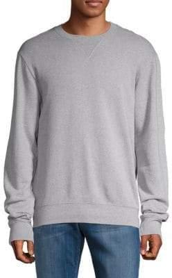 Maison Margiela Leather Elbow-Patch Cotton Sweatshirt