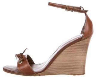Tod's Leather Ankle Strap Wedges