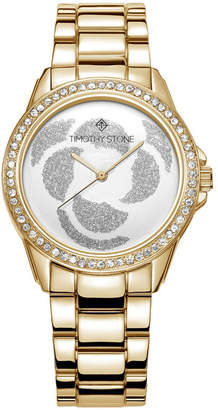 Timothy Stone Women's 'Katy' Crystal Accented Rose Petal Bracelet Watch