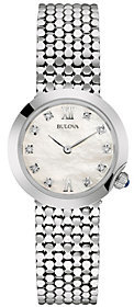 Bulova Ladies' Silvertone Stainless Steel Diamond Accent Watch $290 thestylecure.com