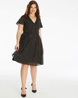 da17a9bf8d64f Oasis Curve Glitter Angel Sleeve Dress