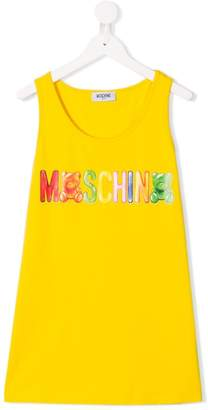 Moschino Kids TEEN logo printed tank top