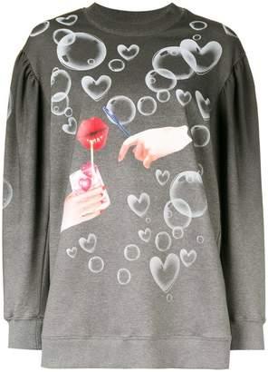 Vivetta ombre printed sweatshirt