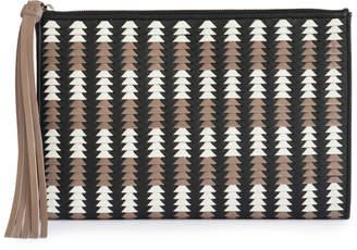 Cooperativa Shop Pantera Black Woven Leather Pouch