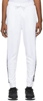 HUGO White Daky Taped Lounge Pants
