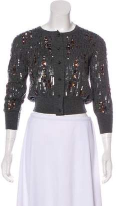 Oscar de la Renta Cashmere & Silk Embellished Cardigan