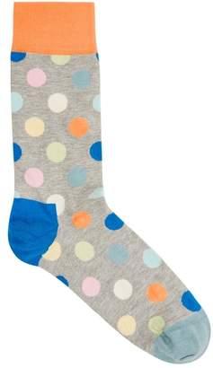 Happy Socks Big Dot Cotton Blend Socks