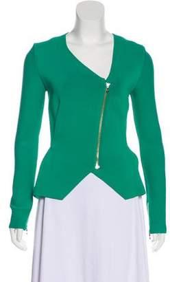 Roland Mouret Asymmetrical Collarless Jacket