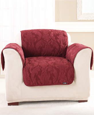 Sure Fit Matelasse Damask Pet Chair Slipcover