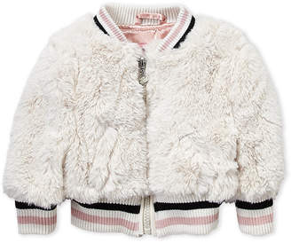 Urban Republic Infant Girls) Faux Fur Bomber Jacket