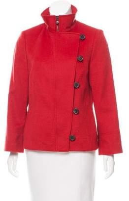 Akris Punto Structured Wool & Angora-Blend Jacket