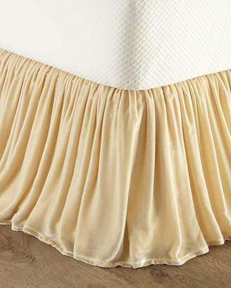 Isabella Collection By Kathy Fielder Queen Velvet Dust Skirt