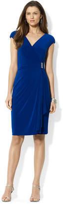 American Living Cap-Sleeve Draped Brooch Dress $79 thestylecure.com