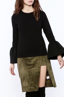 BEULAH STYLE Black Bell Sweatshirt $55 thestylecure.com