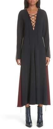 Stella McCartney Bicolor Lace Up Dress