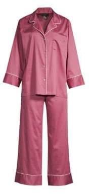 Natori Two-Piece Cotton Sateen Pajama Set