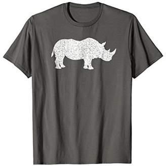 Distressed Rhinoceros Or Rhino Graphic T-Shirt